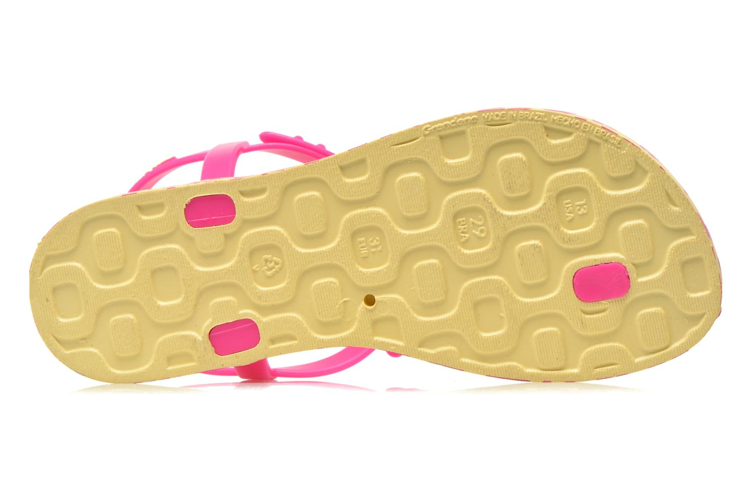 Flip flops Ipanema Charm Sandal IV Kids Yellow view from above