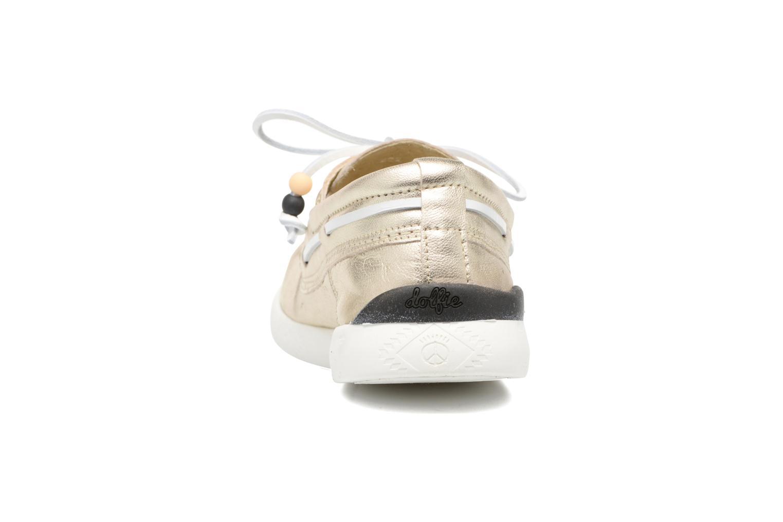 Chaussures à lacets Dolfie Landom Or et bronze vue droite