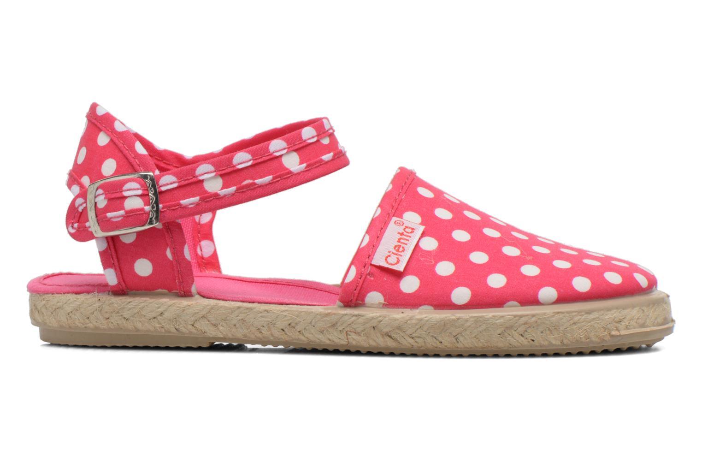 Sandales et nu-pieds Cienta Margot Rose vue derrière
