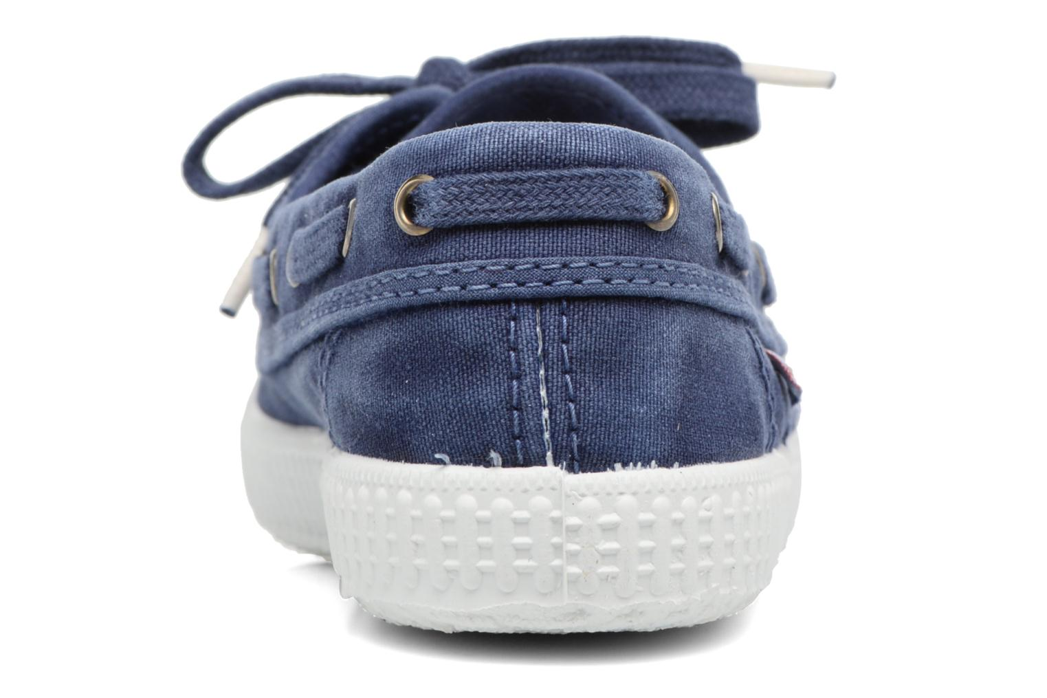 Lace-up shoes Cienta Martino Blue view from the right