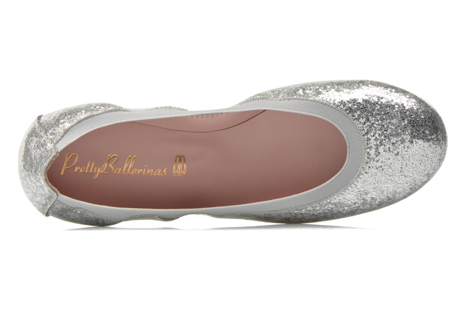 Ballet pumps Pretty Ballerinas Shirley Silver view from the left