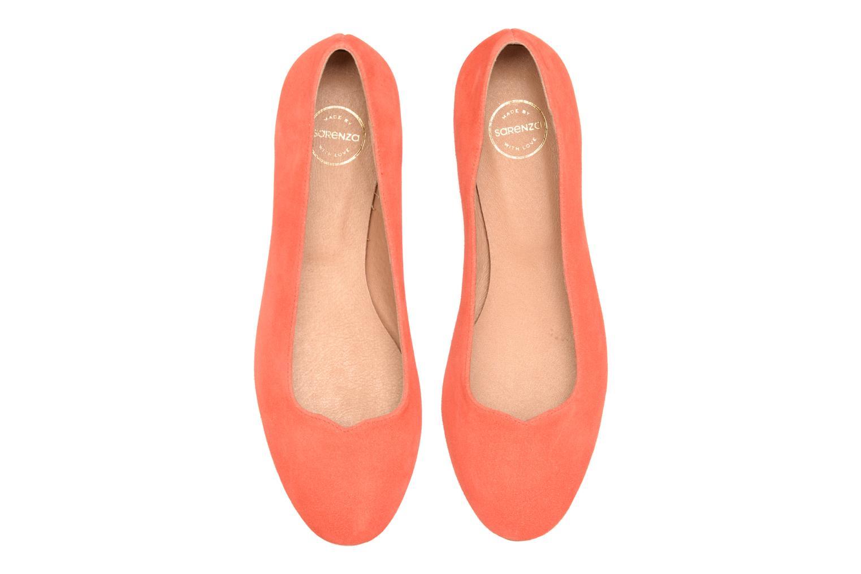 Ballerines Made by SARENZA Colette en terrasse #4 Orange vue portées chaussures