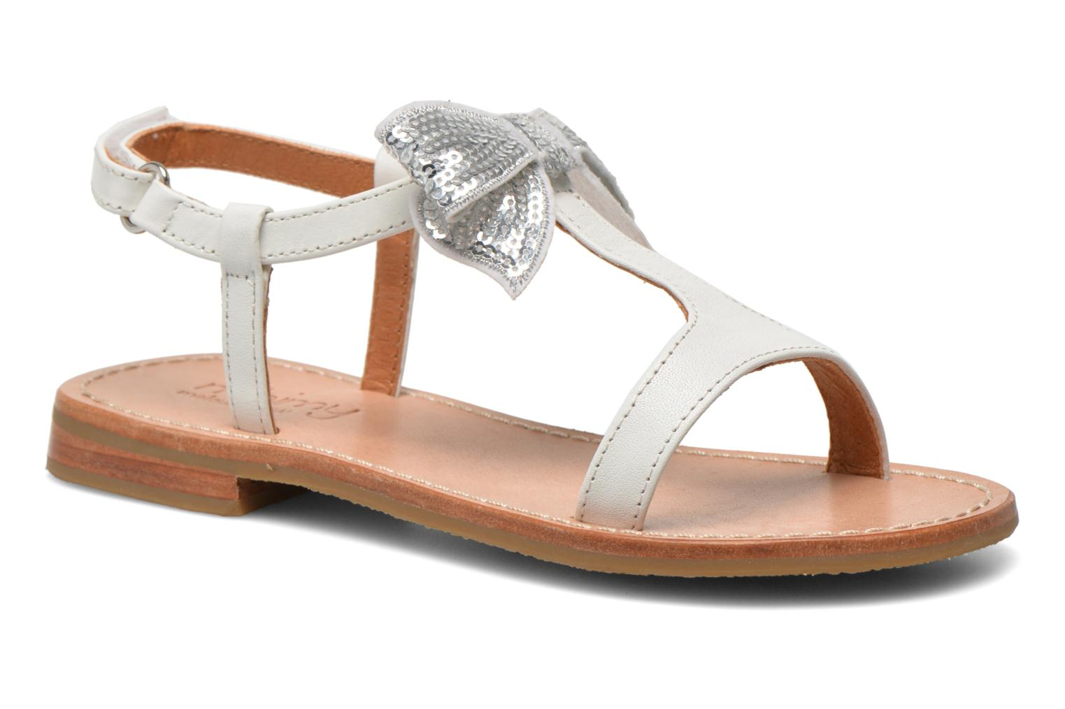 Sandals Mellow Yellow Mnvablist White detailed view/ Pair view
