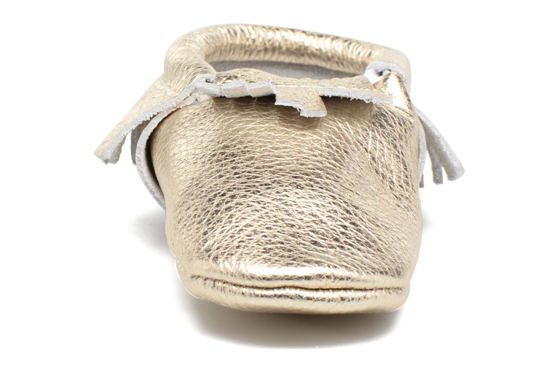 Chaussons Hippie Ya Mocassins Or et bronze vue portées chaussures