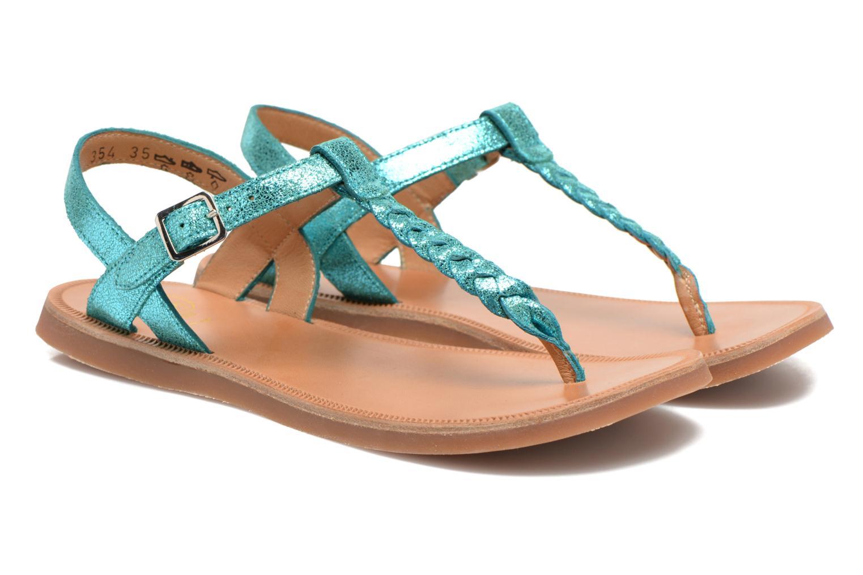 Sandals Pom d Api Plagette Antic Tong Blue 3/4 view