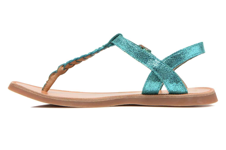 Sandals Pom d Api Plagette Antic Tong Blue front view