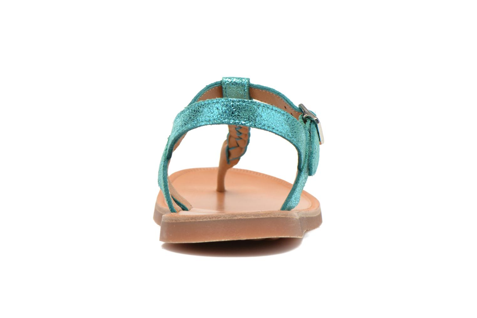 Sandals Pom d Api Plagette Antic Tong Blue view from the right