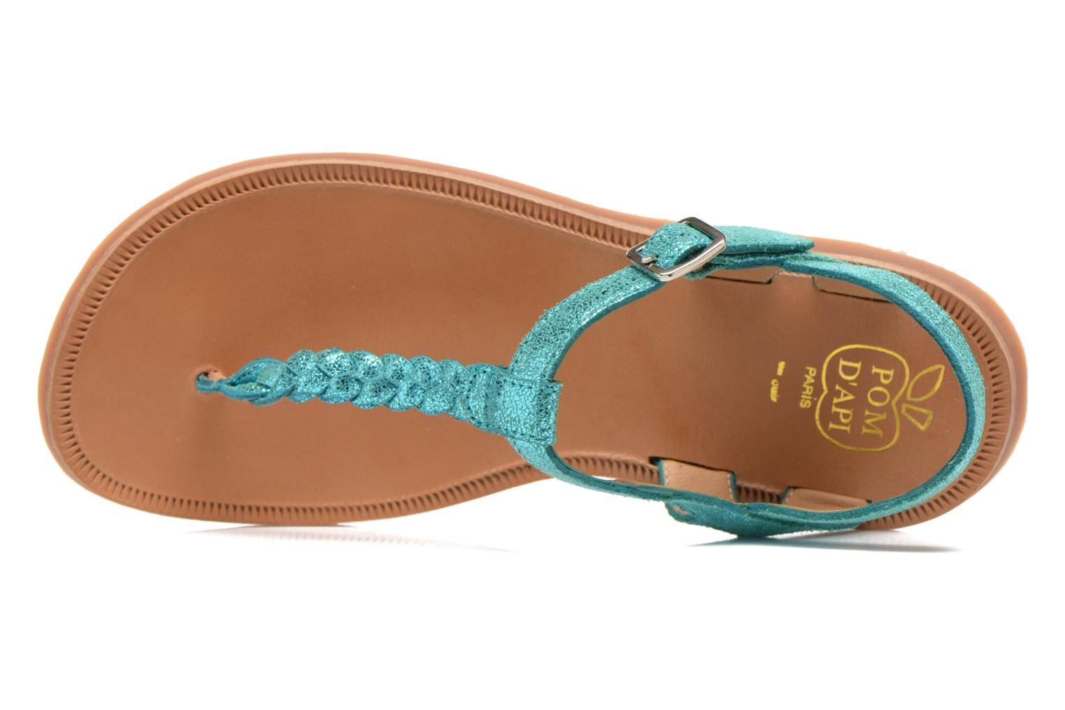 Sandals Pom d Api Plagette Antic Tong Blue view from the left