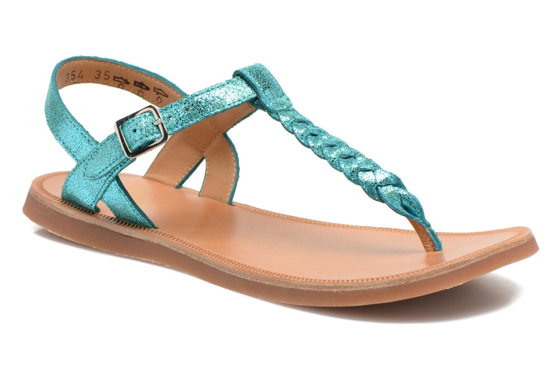 Sandals Pom d Api Plagette Antic Tong Blue detailed view/ Pair view