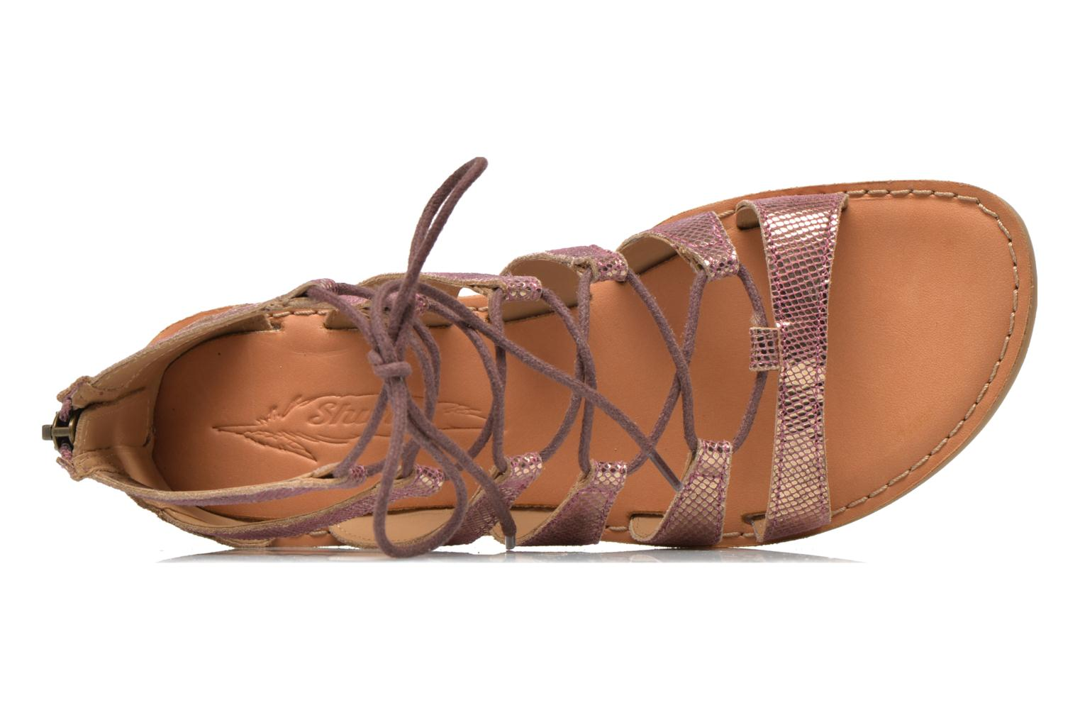 Sandals Shwik Lazar Hi Lace Pink view from the left