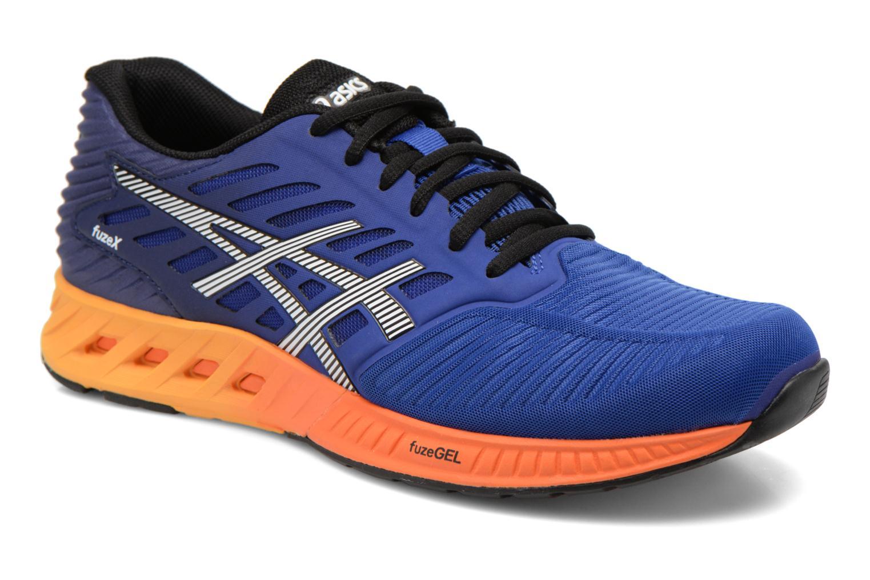Sport shoes Asics Fuzex Blue detailed view/ Pair view