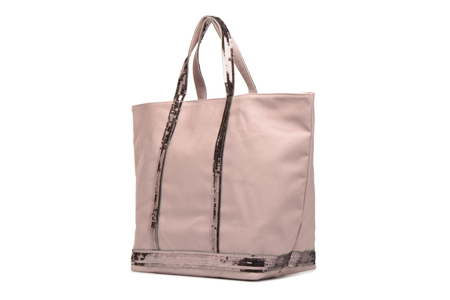 Handbags Vanessa Bruno Cabas M+ Pink view from the right