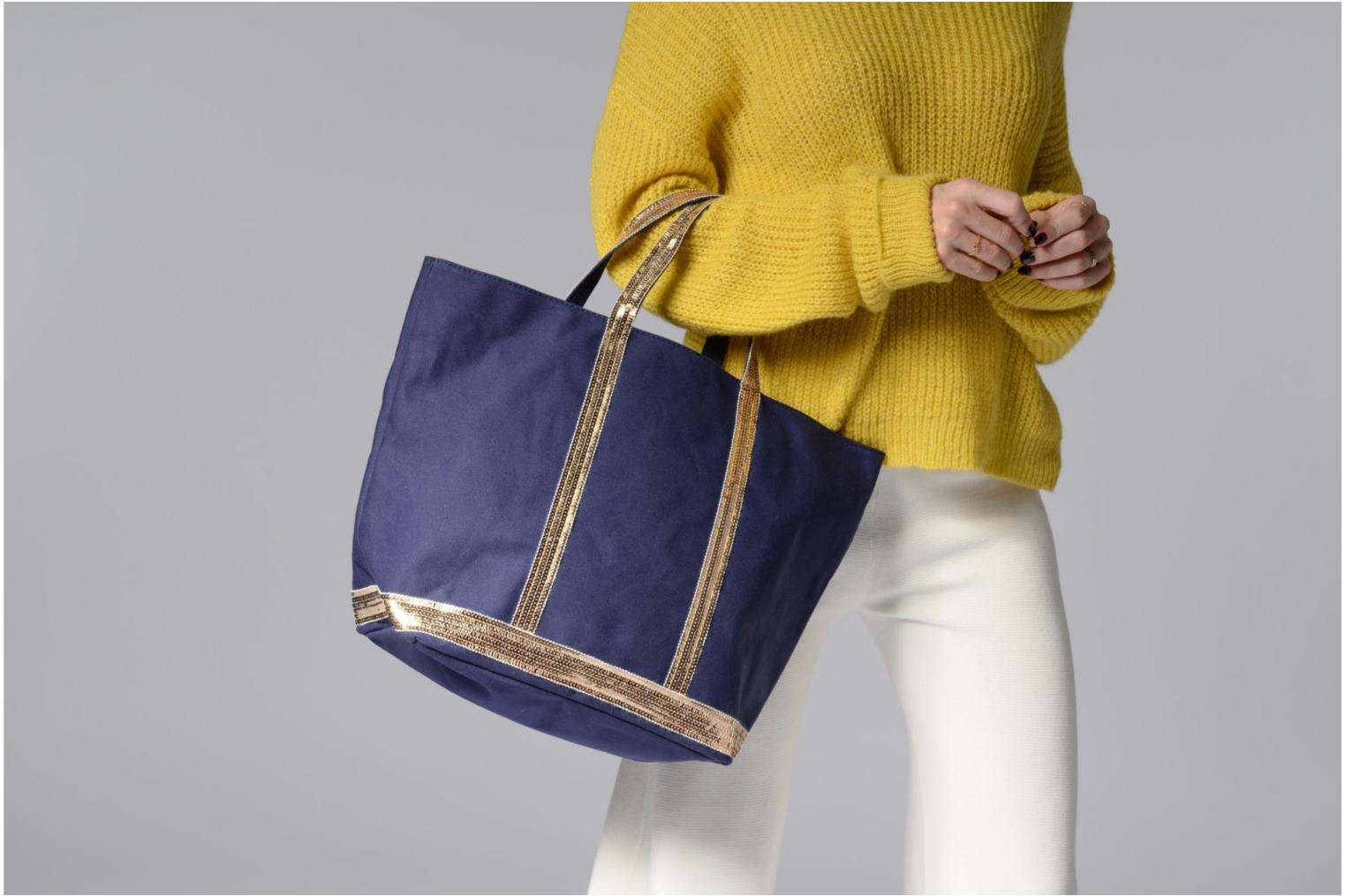 Handbags Vanessa Bruno Cabas M+ Blue view from above