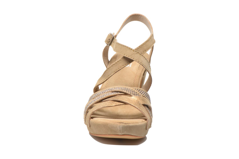 Sandales et nu-pieds Khrio Romina Beige vue portées chaussures