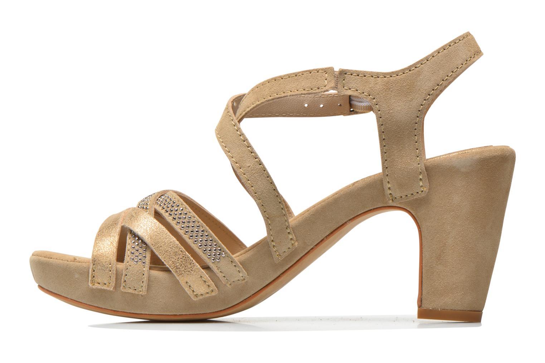 Sandales et nu-pieds Khrio Romina Beige vue face