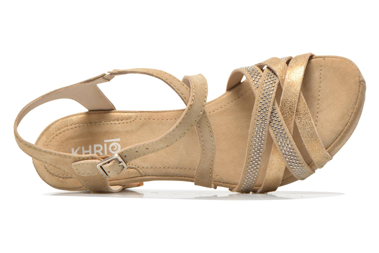 Sandals Khrio Romina Beige view from the left