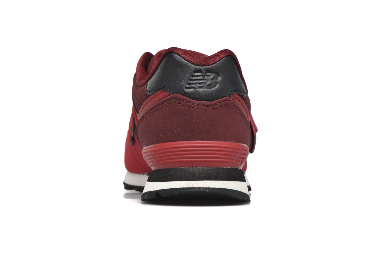 Baskets New Balance KV574 J Rouge vue droite