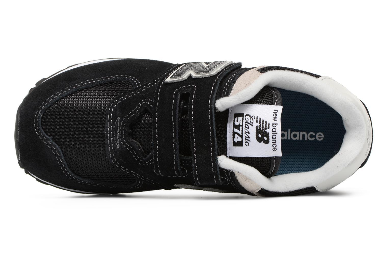 Baskets New Balance KV574 J Noir vue gauche