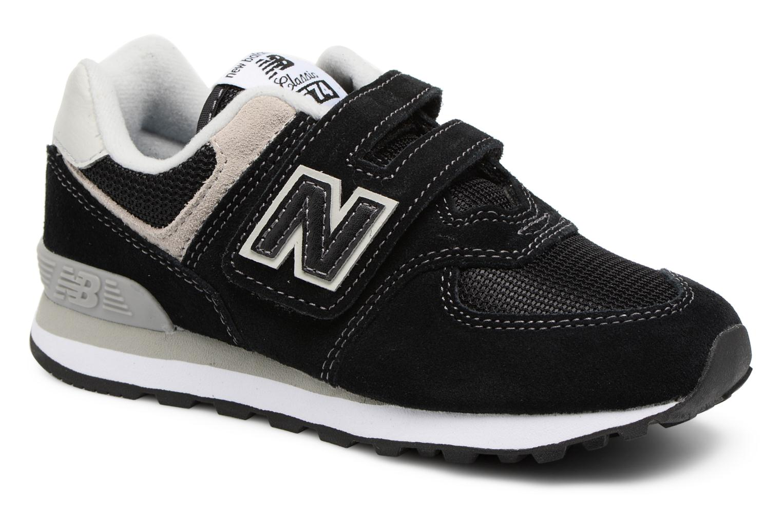 Trainers New Balance KV574 J Black detailed view/ Pair view