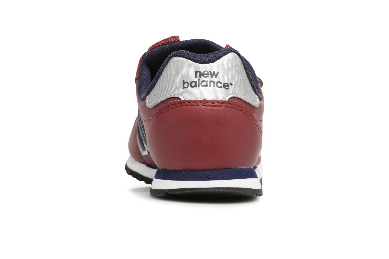 Sneaker New Balance KV500 J weinrot ansicht von rechts