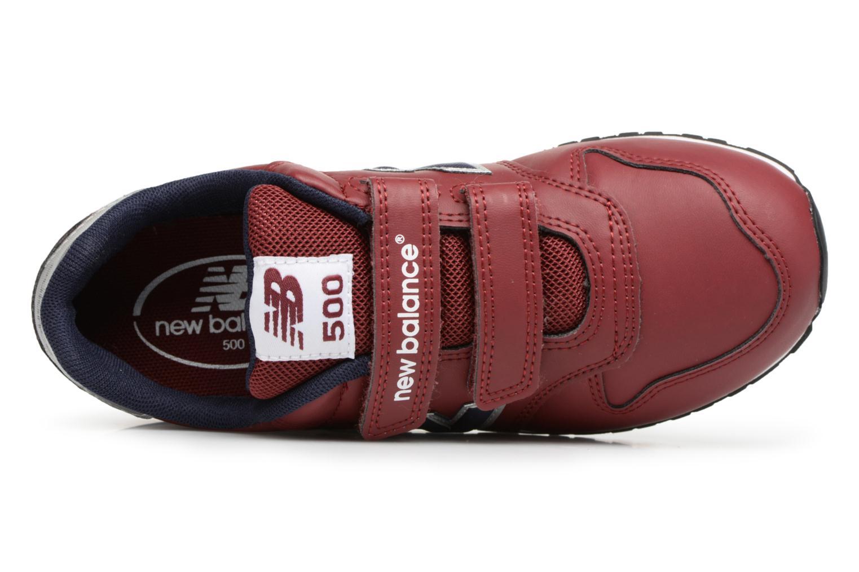 Sneaker New Balance KV500 J weinrot ansicht von links