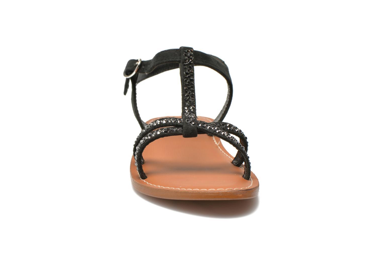 Sandales et nu-pieds L'Atelier Tropézien Coquette Noir vue portées chaussures