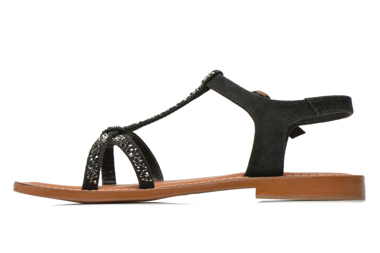 Sandales et nu-pieds L'Atelier Tropézien Coquette Noir vue face