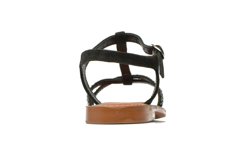 Sandales et nu-pieds L'Atelier Tropézien Coquette Noir vue droite