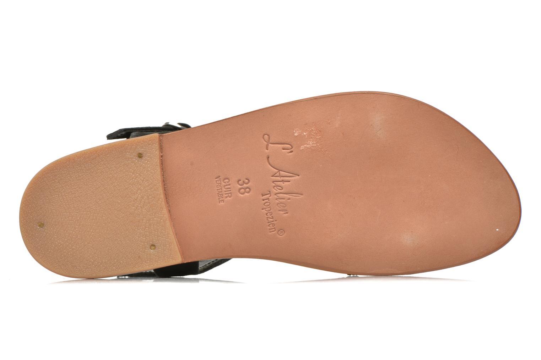 Sandales et nu-pieds L'Atelier Tropézien Coquette Noir vue haut