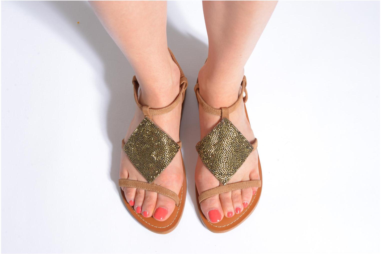 Sandals L'Atelier Tropézien Lucette Brown view from underneath / model view