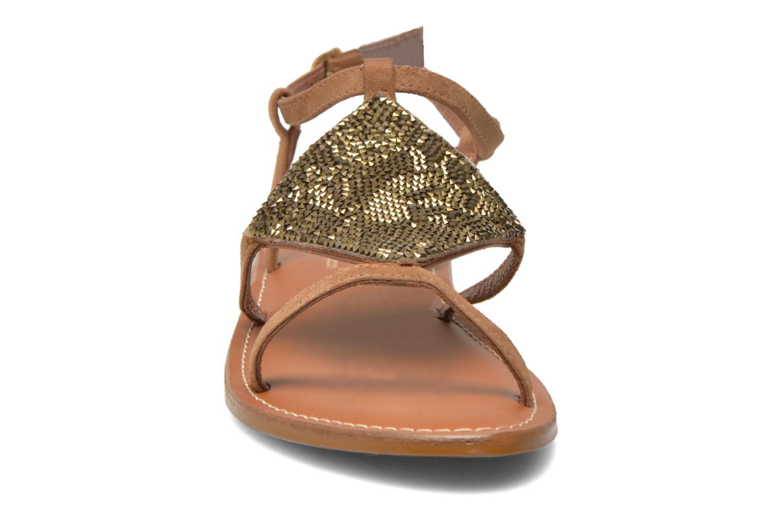 Sandals L'Atelier Tropézien Lucette Brown model view