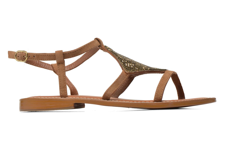 Sandals L'Atelier Tropézien Lucette Brown back view