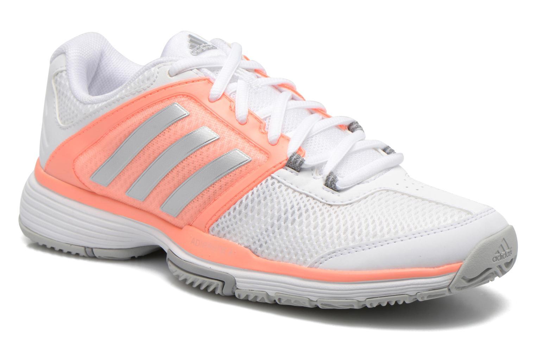 Chaussures de sport Adidas Performance Barricade Club W Blanc vue détail/paire
