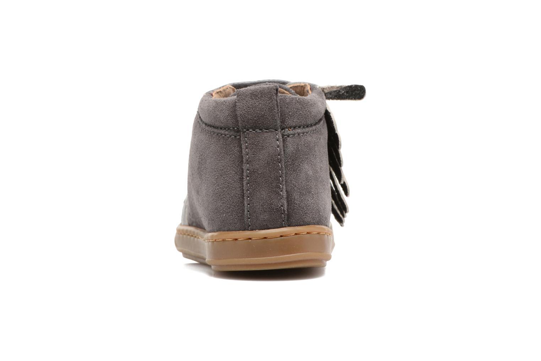 Bottines et boots Shoo Pom Bouba Lace Fringe Gris vue droite