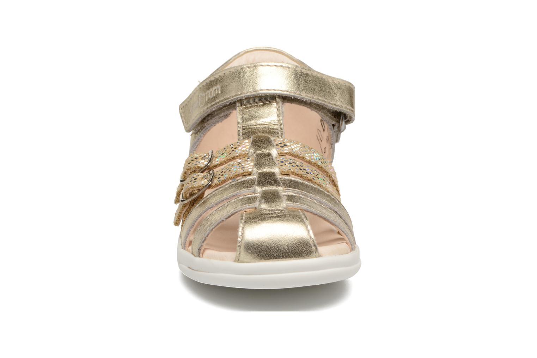 Sandalias Shoo Pom Pika Spart Oro y bronce vista del modelo