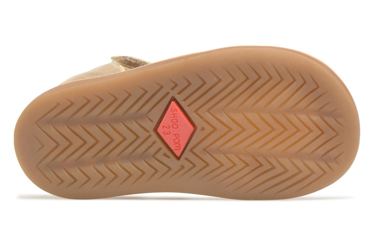 Sandals Shoo Pom Tity Fringe Bronze and Gold view from above
