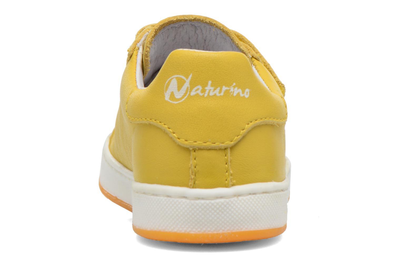 Baskets Naturino Diamante 4064 VL Jaune vue droite