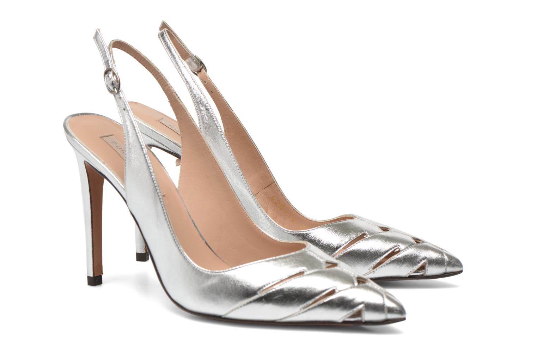 High heels Pura Lopez Carmen Silver 3/4 view