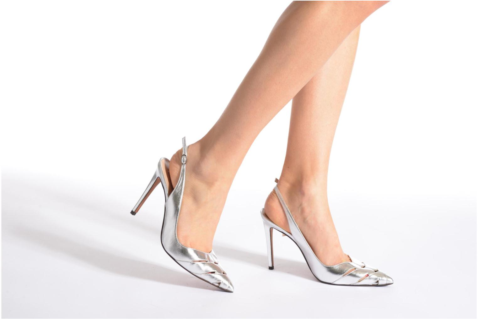 High heels Pura Lopez Carmen Silver view from underneath / model view