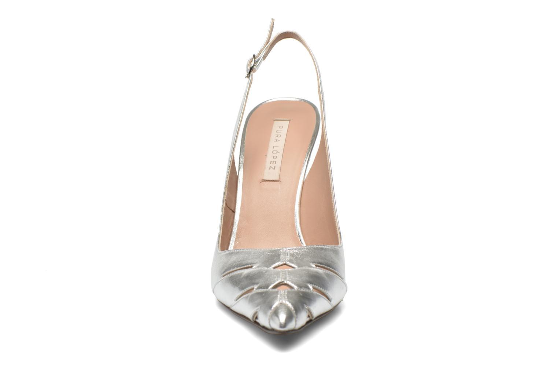 Escarpins Pura Lopez Carmen Argent vue portées chaussures