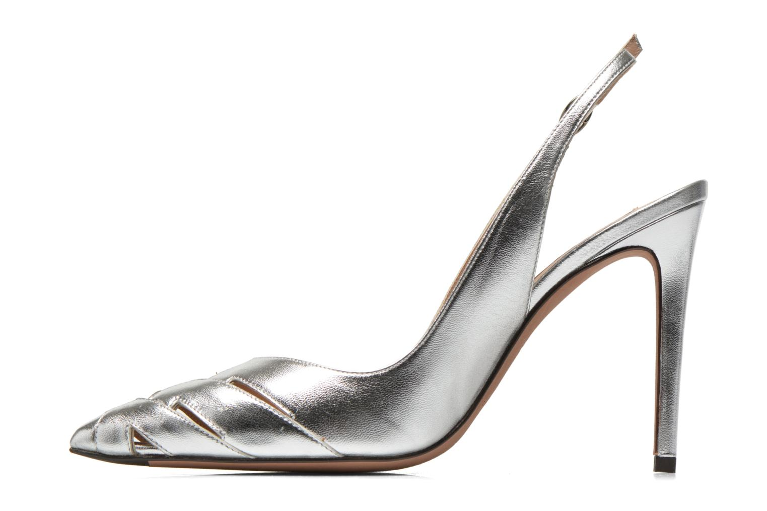 High heels Pura Lopez Carmen Silver front view