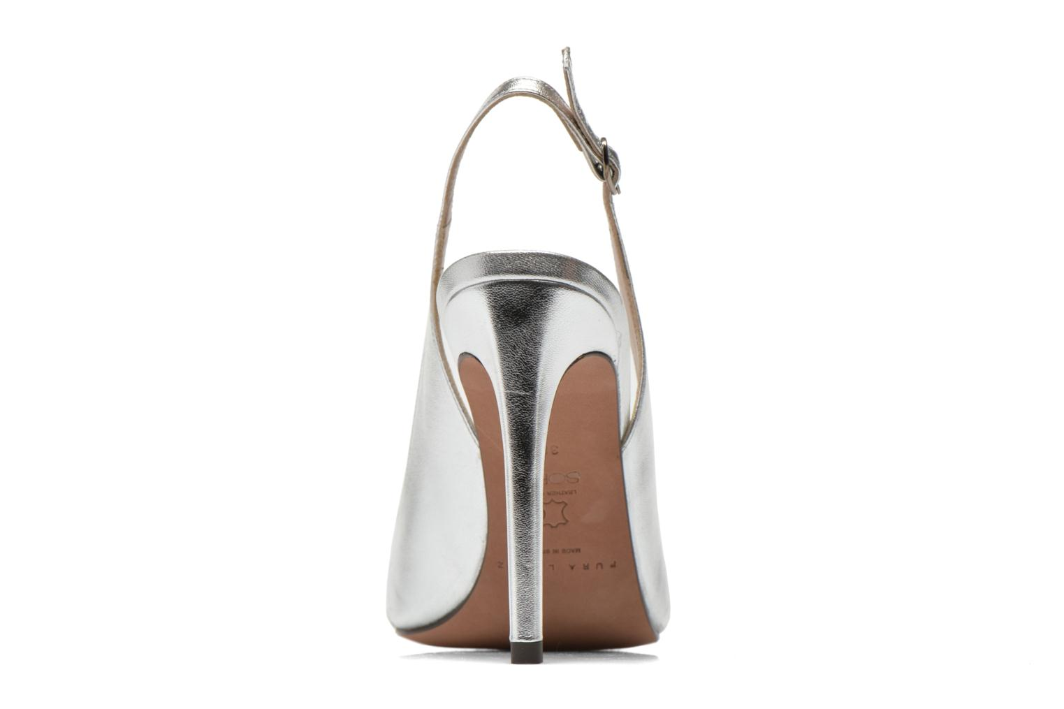 High heels Pura Lopez Carmen Silver view from the right