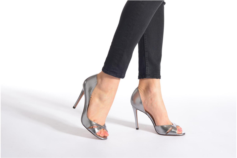 Zapatos de tacón Pura Lopez Elegante Plateado vista de abajo