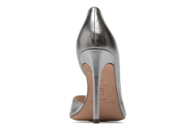 Zapatos de tacón Pura Lopez Elegante Plateado vista lateral derecha