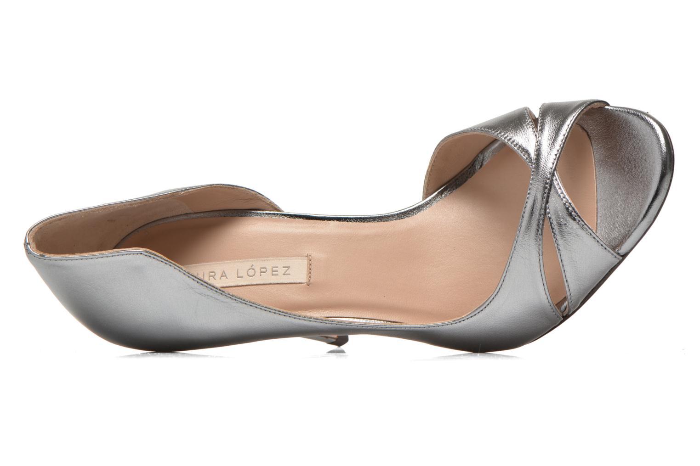 Zapatos de tacón Pura Lopez Elegante Plateado vista lateral izquierda