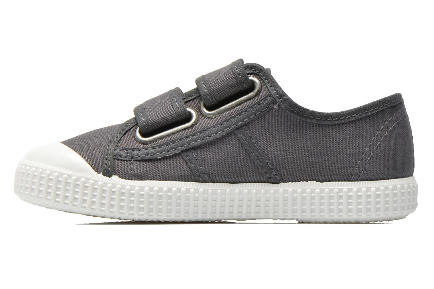 Trainers Victoria Basket lona Dos Velcos Grey front view