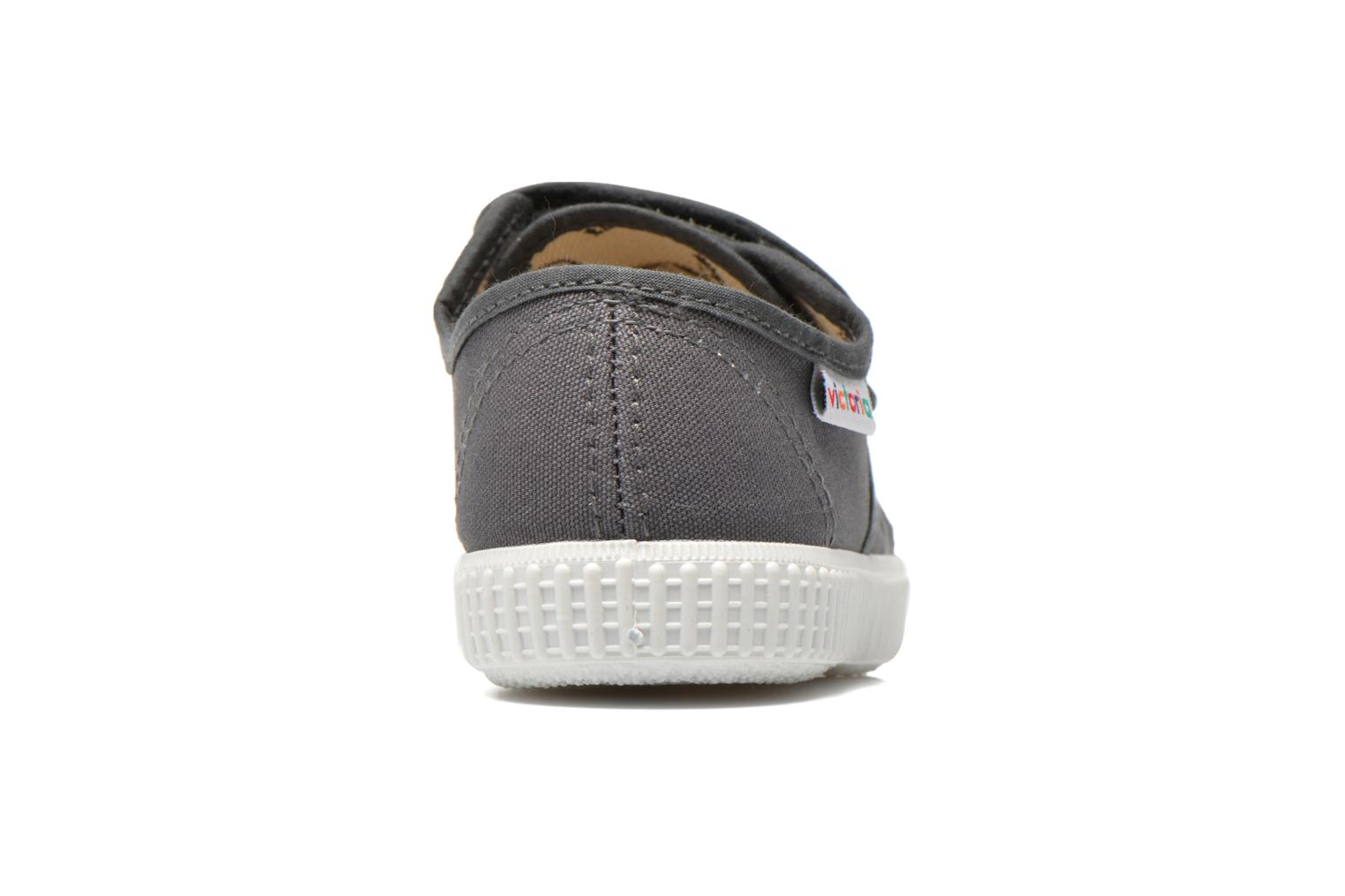 Trainers Victoria Basket lona Dos Velcos Grey view from the right
