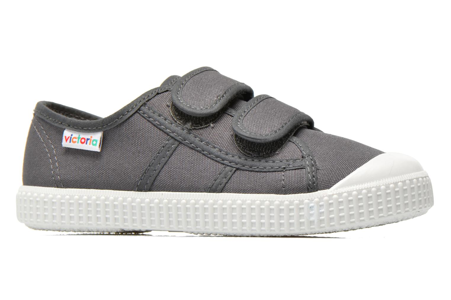 Trainers Victoria Basket lona Dos Velcos Grey back view