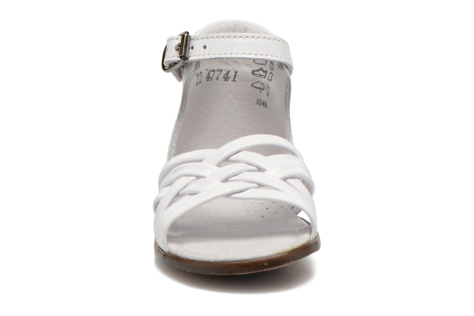 Sandals Little Mary Virginia White model view