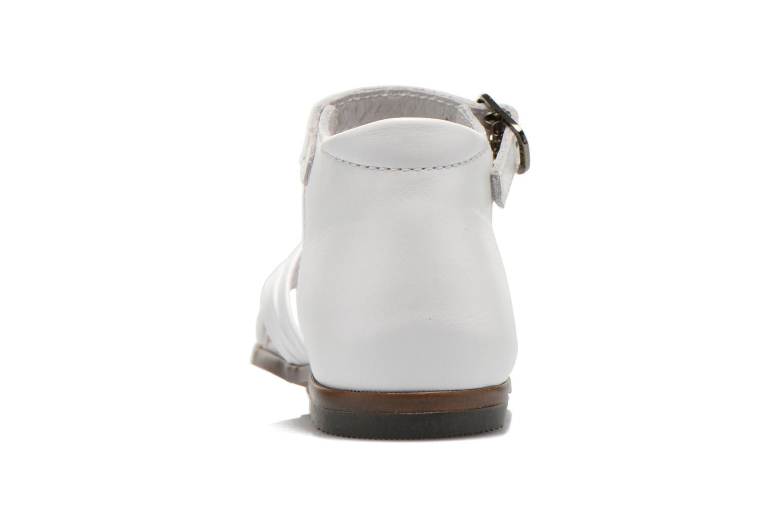 Sandales et nu-pieds Little Mary Virginia Blanc vue droite